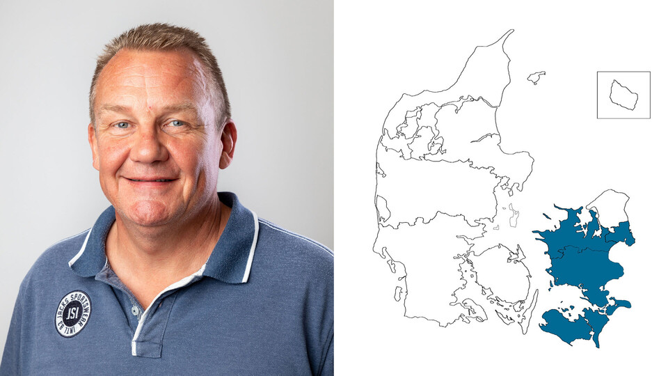 contact person, sales representative, profile and map, north west sealand, lars hermansen, DK