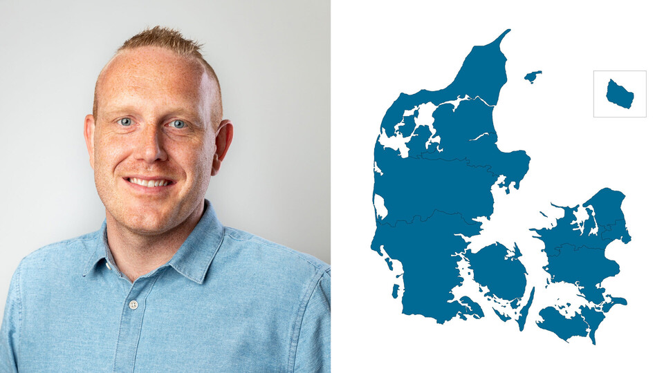 contact person, sales representative, profile and map, sourth and mid sealand, anders vilumsen, DK