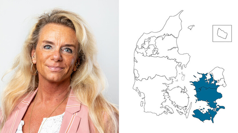 contact person, customer service, profile and map, eastern denmark, camilla almind, DK