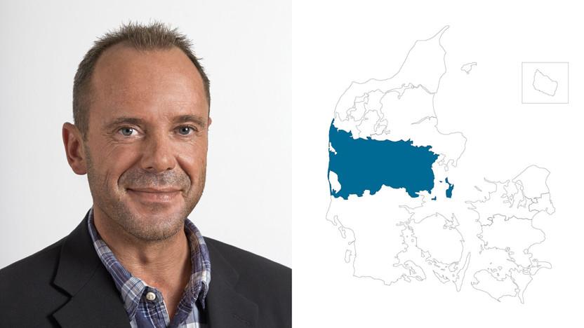contact person, sales representative, profile and map, central jutland, bo jørgensen, DK