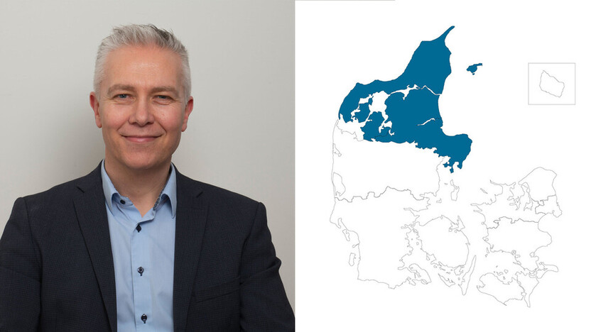 contact person, sales representative, profile and map, northern jutland, jeppe kjærgaard, DK