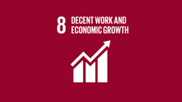 logo, united nations, sustainable development goals, unsdg-08, decent work and economic growth