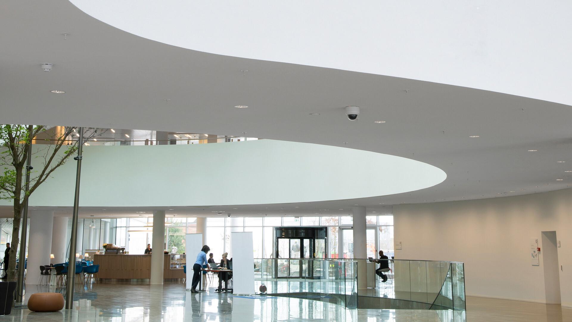 Produkter i billedet: Rockfon® Mono® Acoustic, TE Elegant Render, 1200 x 1200
