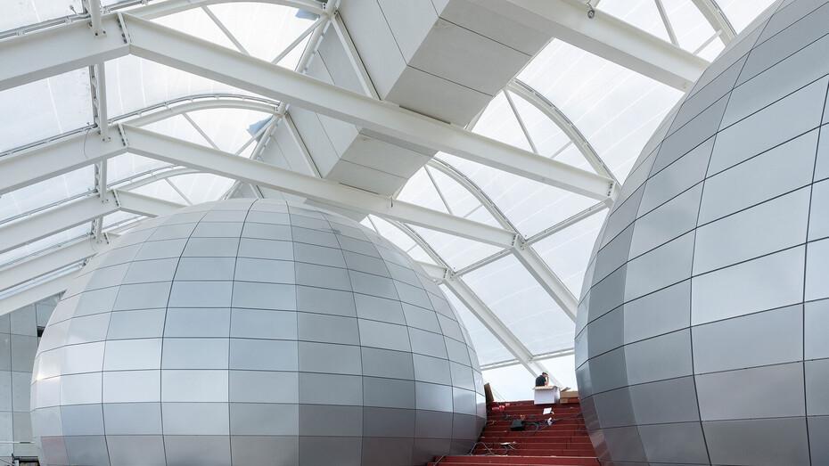 DK, experience centre, Naturkraft, Ringkøbing, Denmark, rockfon-color-all, grey, custom size