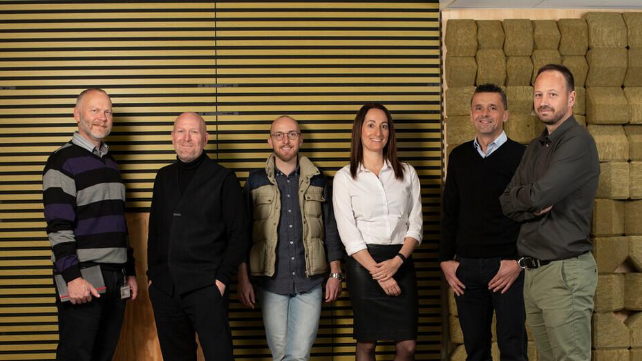 Innovation team, Oskar Meres, Christian Klinge, Daniela Bach, Jesper Wolff, Morten Gyldendal Melberg, Niels Blume Frederiksen